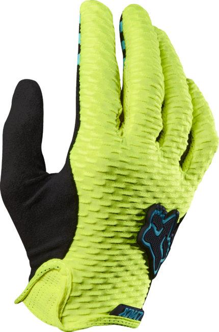 FOX, Womens Lynx Gloves, Flo Yellow, L-0