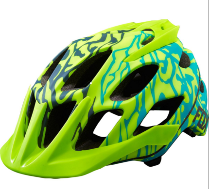 Womens Flux Helmet, Miami Green S/M-0