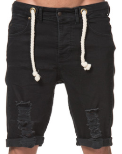 SomeWear, Denimshorts Echo, svart-0