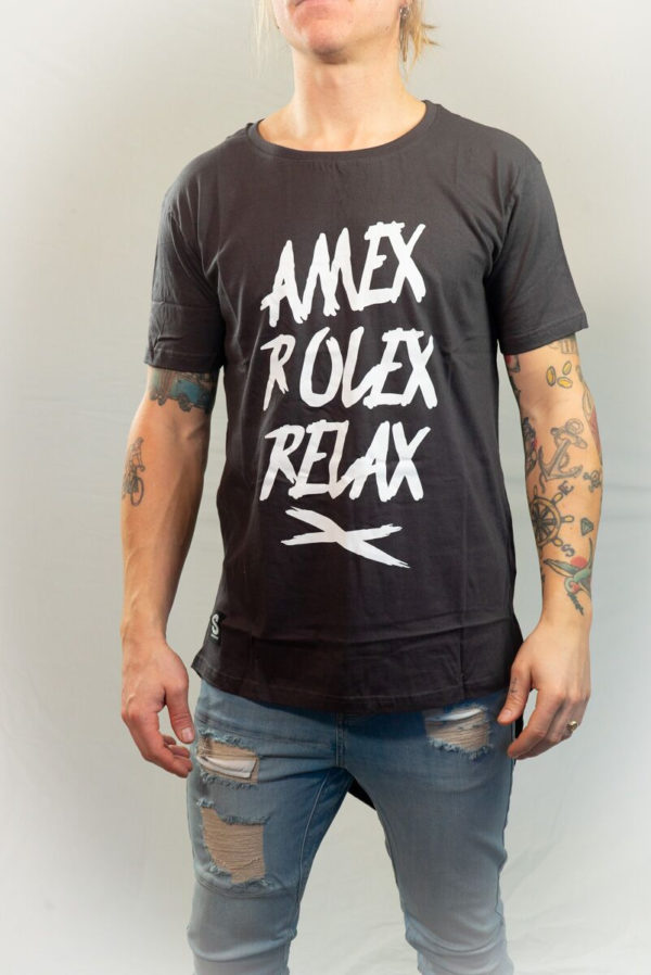 SomeWear AW16, T-shirt RELAX Charcoal (vit text)-0