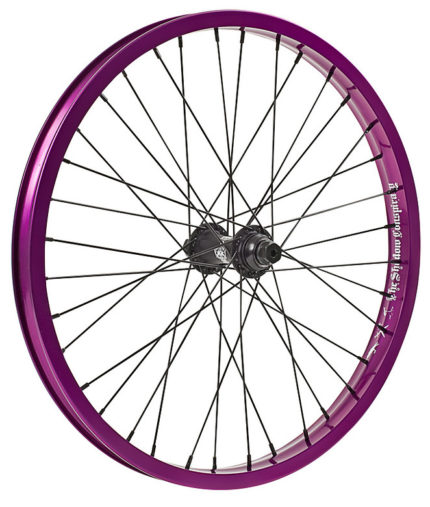 TSC, Stun Complete Front Wheel, 36H, Purple/Black-0