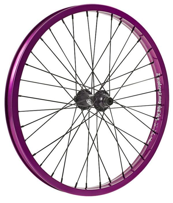 TSC, Stun Complete Front Wheel, 36H, Purple/Black-0
