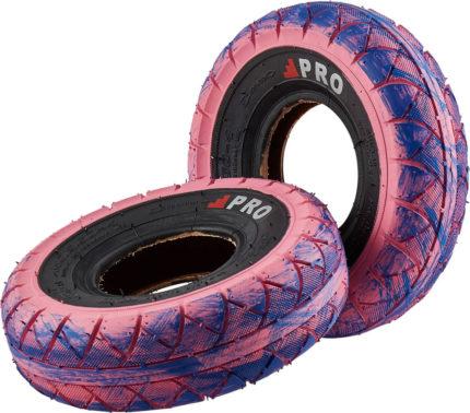 Rocker däck rosa/blå-0