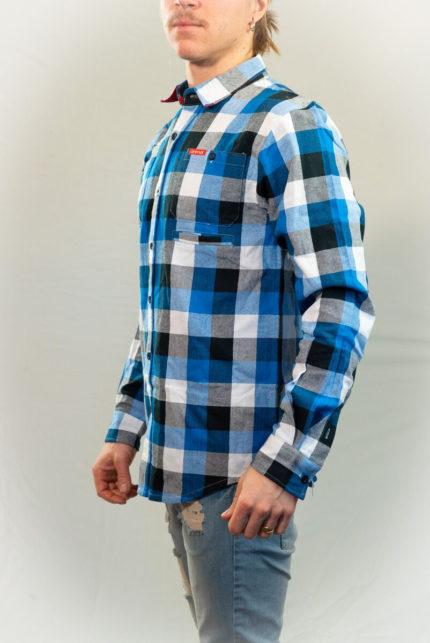 Animal Flanell Skjorta Blå-0
