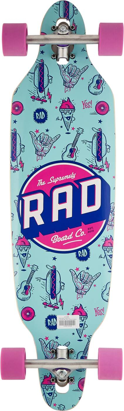 "RAD Longboard 36"" - Wallpaper Blue -0"